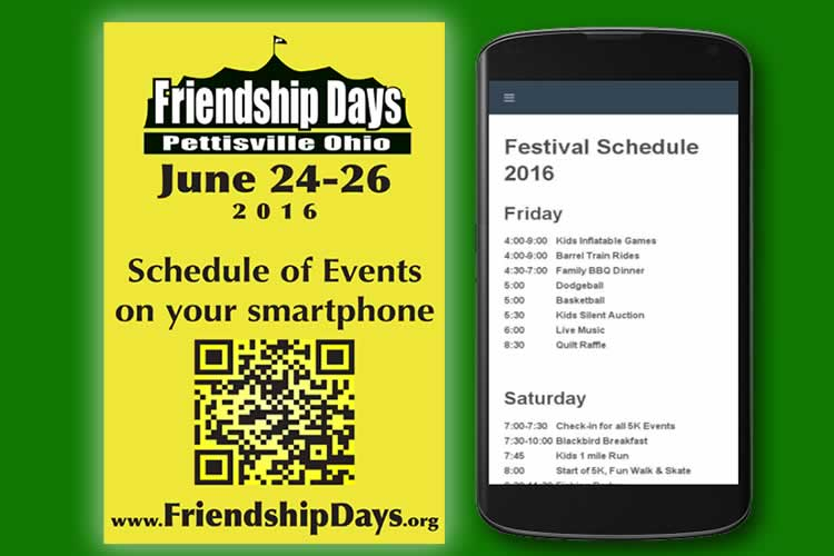 Festival Schedule of Events