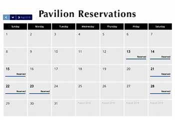 Pavilion Availability