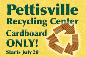 Cardboard Only at Pettisville Recycling Center